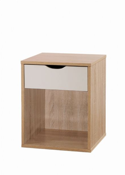 Alton Nightstand with 1 Drawer Oak